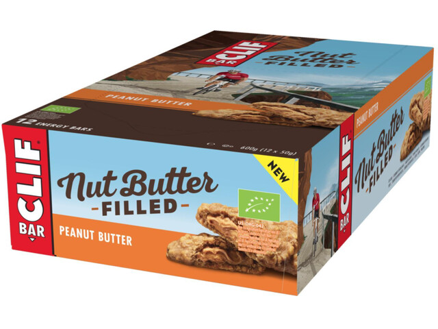 CLIF Bar Nut Butter Filled Energy Bar Box 12x50g Peanut Butter